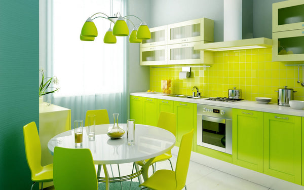 Awesome Lime Green Theme Nuance For Small Kitchen Room Ideas Featuring Yourbusiness
