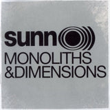 Sunn O))) - Monoliths and Dimensions