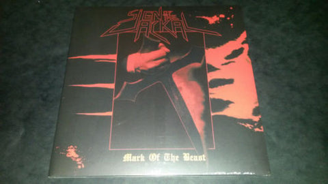 Sign of the Jackal Mark of the Beast LP on Red vinyl Gatefold sleeve