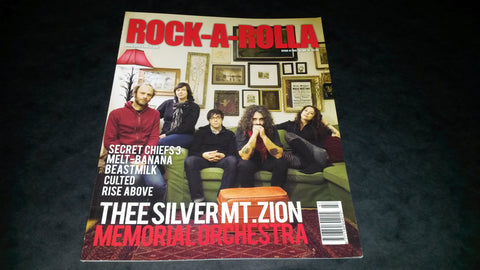 Rock-A-Rolla Magazine Issue 47 NEW Thee Silver Mt Zion Secret Chiefs 3 Melt-Banana