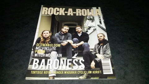 Rock-A-Rolla Magazine Issue 38 NEW Baroness Old Man Gloom Melvins Witch Mountain