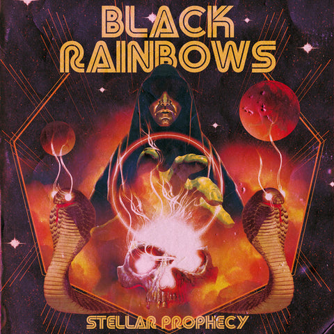 Black Rainbows Stellar Prophecy LP Ltd Orange vinyl