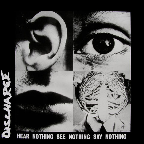 Discharge Hear Nothing See Nothing Say Nothing LP Clear vinyl