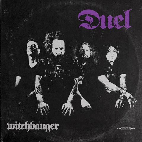 Duel - Witchbanger Limited LP on White vinyl with purple, red and blue splatter