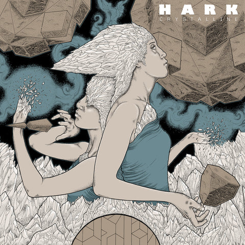 Hark Crystalline LP on Brown Vinyl gatefold sleeve ltd 400 copies