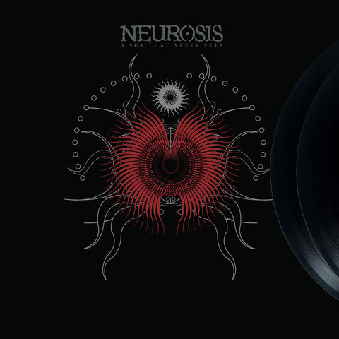 Neurosis - A Sun That Never Sets 2LP 180gm Oxblood Vinyl Deluxe Version in Tip on Stoughton Jacket