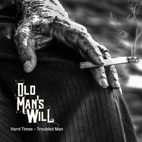 Old Man's Will Hard Times -Troubled Man LP on Red and Black vinyl