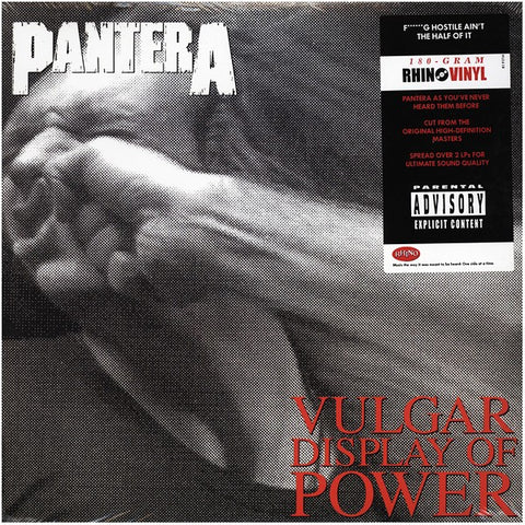 Pantera Vulgar Display of Power 2LP 180gm vinyl in gatefold sleeve