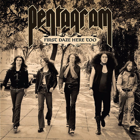 Pentagram First Daze Here Too Limited LP Beer vinyl