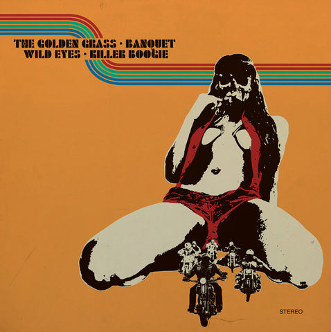The Golden Grass, Killer Boogie, Wild Eyes & Banquet 4 way Split 2LP on limited edition Green Vinyl
