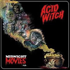 "Acid Witch Midnight Movies 12"" EP on Red & Gold vinyl + lyric sheet"