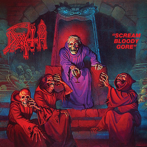 Death Scream Bloody Gore LP on Blue vinyl + Download
