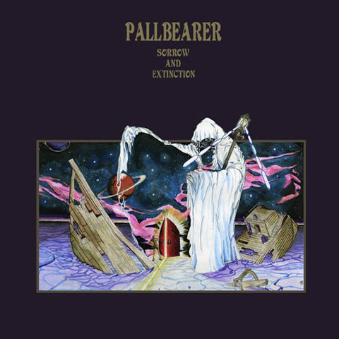 Pallbearer Sorrow and Extinction 2LP in a gatefold sleeve, clear vinyl
