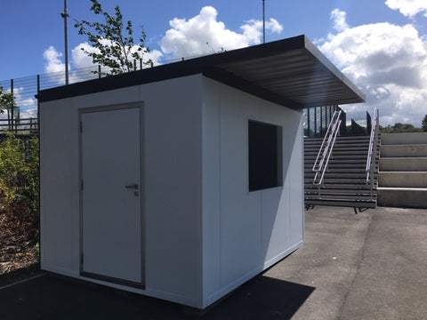 Insulated POD with roof showing door