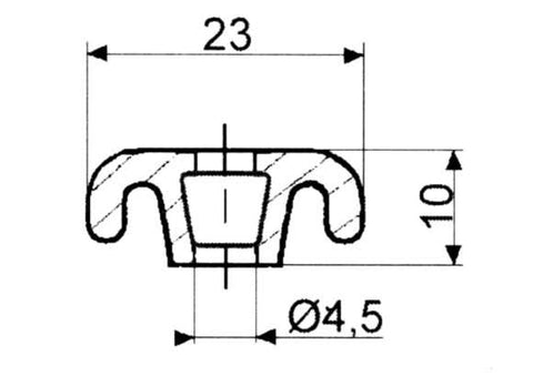 Fermod 3312 Retaining Strip - 2.5m to suit 8511 and 2311 Gasket - 4 Pack.