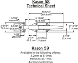 Kason 58 coldroom handle complete kit - Absolute Coldroom