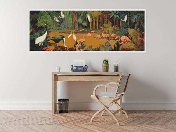 Jungle Scene Cross Stitch