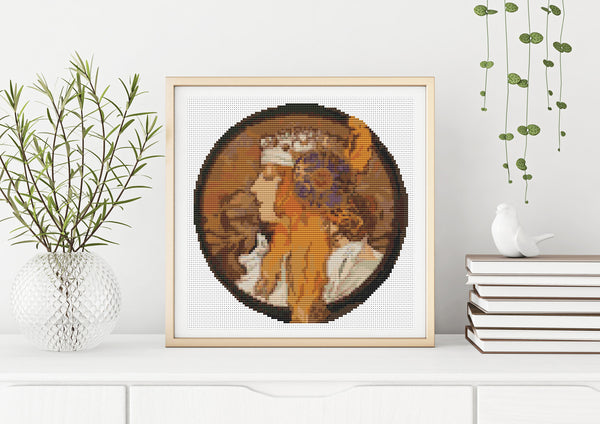Alphonse Mucha Cross Stitch