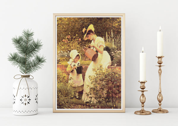 The Young Gardener Cross Stitch