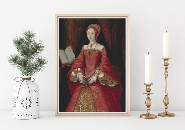 Portrait of Elizabeth I Cross Stitch