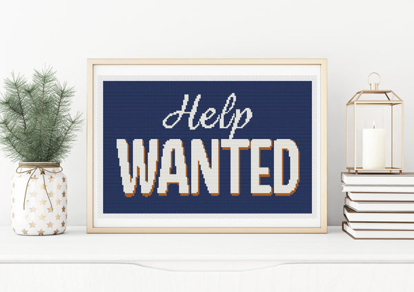 Help Wanted Cross Stitch