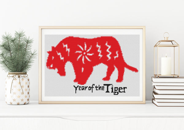 Year of the Tiger Cross Stitch
