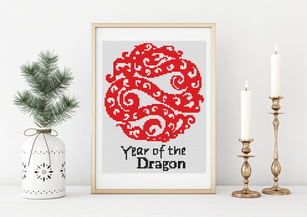 Year of the Dragon Cross Stitch