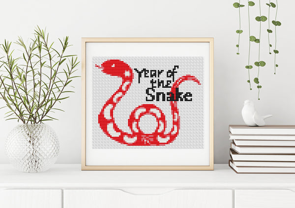 Year of the Snake Cross Stitch