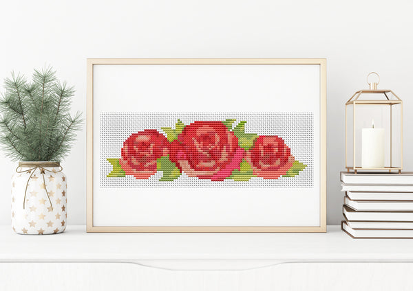 Red Roses Cross Stitch