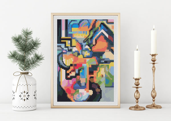 August Macke Cross Stitch