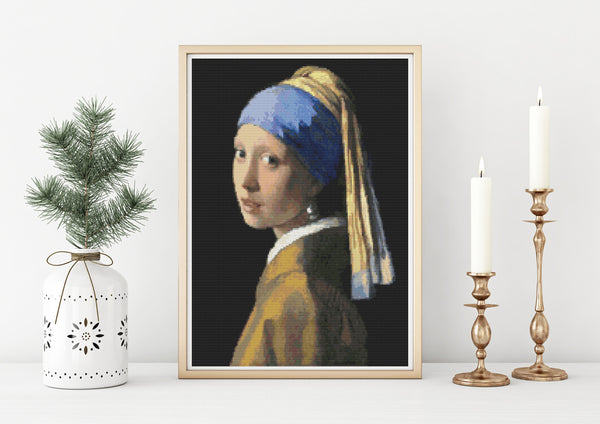 The Girl with the Pearl Earring  Cross Stitch