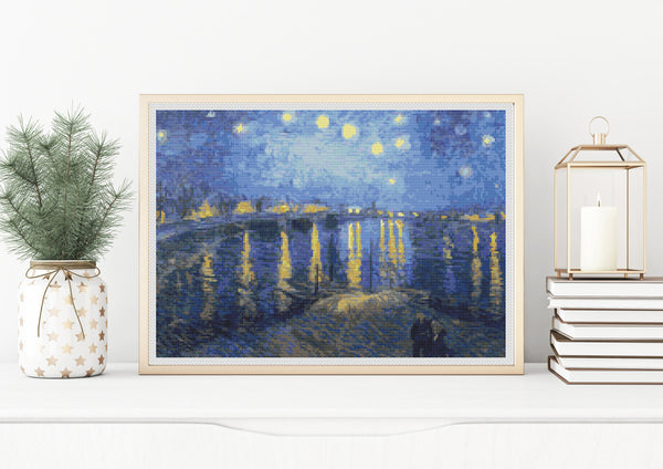 Starry Night over the Rhone Cross Stitch