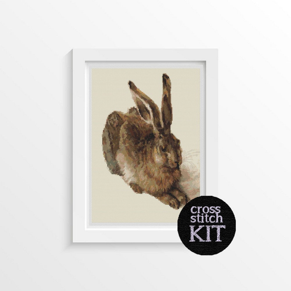 The Young Hare Cross Stitch Kit