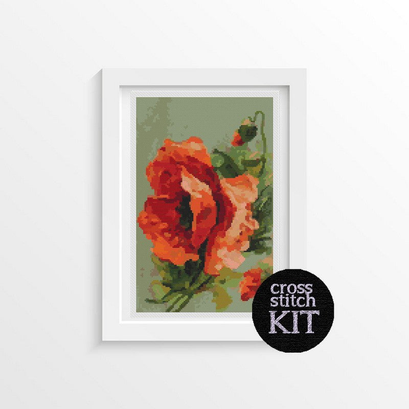 Poppies Cross Stitch Kit