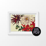 Japan Dahlia Cross Stitch Pattern