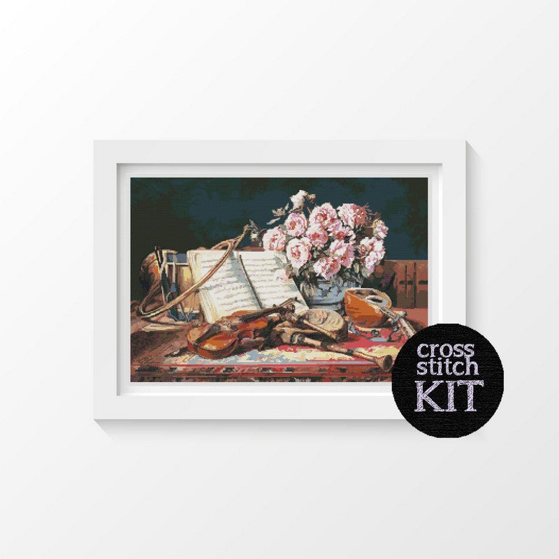 Musical Still Life Cross Stitch Kit