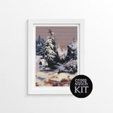 Winter in the Rockies Cross Stitch Kit - The Art of Cross Stitch