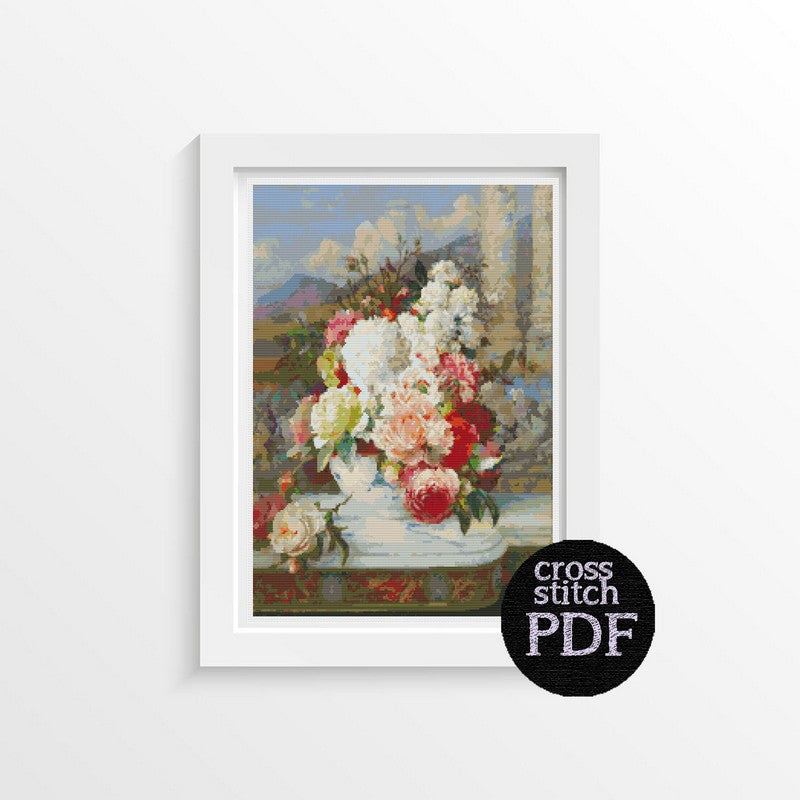 Roses Cross Stitch Pattern - The Art of Cross Stitch