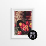 Still Life of Apples in a Hat Cross Stitch Kit - The Art of Cross Stitch