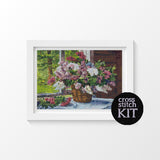 Lilacs by the Window Cross Stitch Kit
