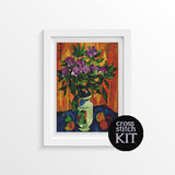Still Life with Peonies in a Vase Cross Stitch Kit - The Art of Cross Stitch