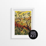 Japanese Style Landscape Cross Stitch Kit - The Art of Cross Stitch