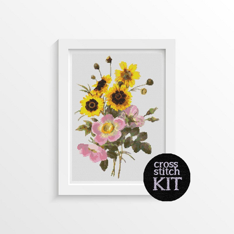 Flowers Cross Stitch Kit - The Art of Cross Stitch