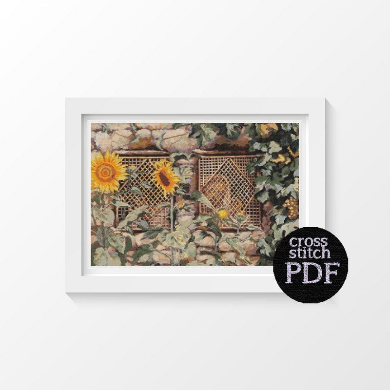 Behold He Standeth Behind Our Wall Cross Stitch Pattern - The Art of Cross Stitch