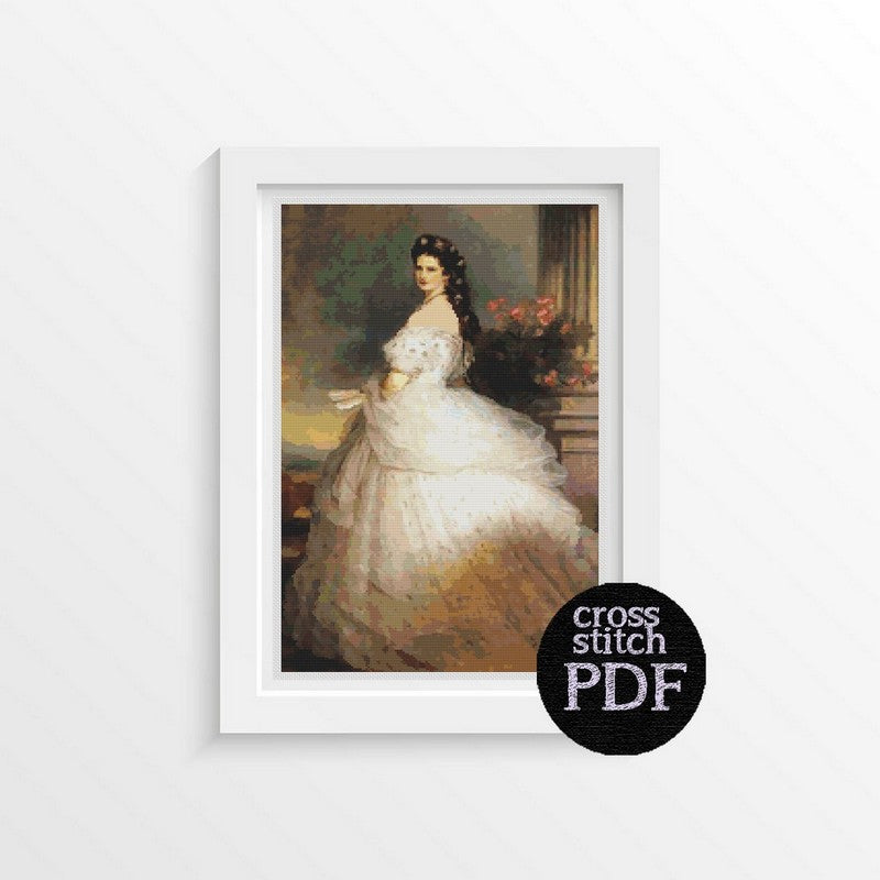 Empress Elizabeth of Austria Cross Stitch Pattern