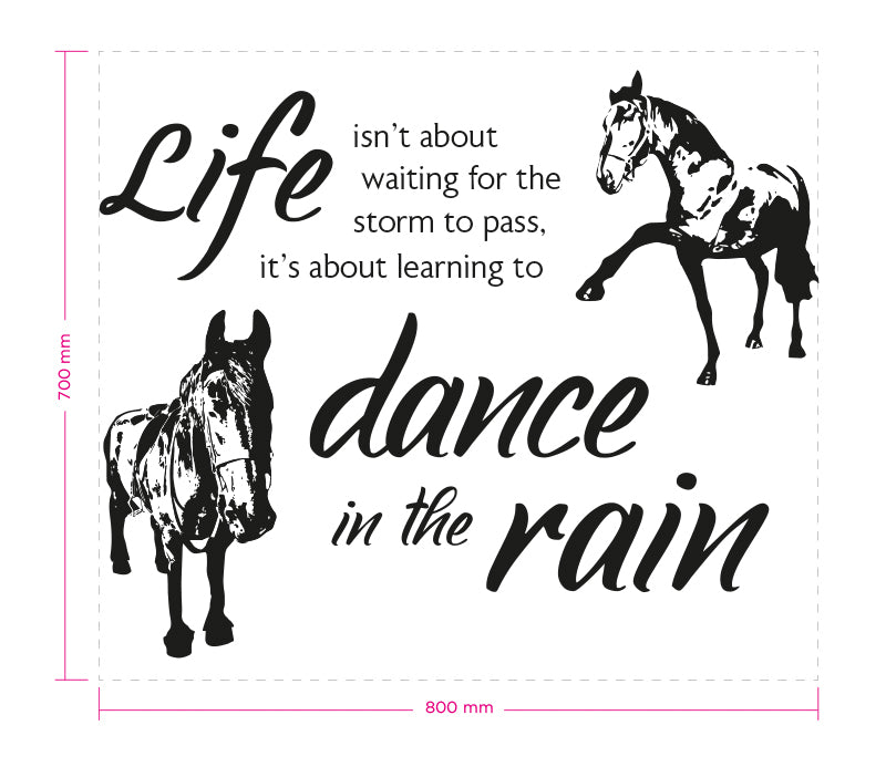 Custom horses and quote wall decal