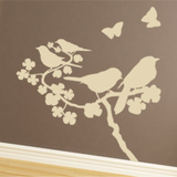 Birds on Flower Wall Decal