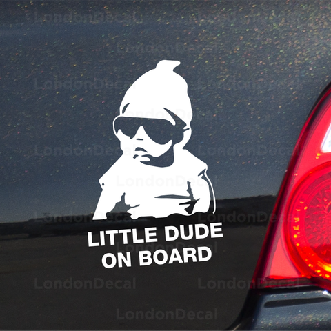Little Dude On Board Car Decal