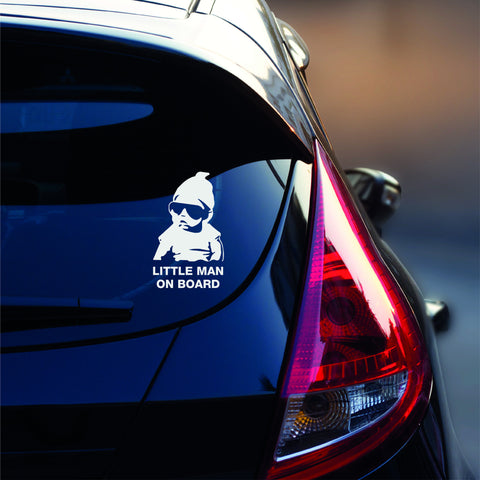 Little Man On Board Car Decal