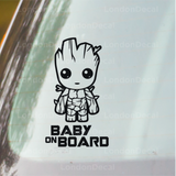 Baby On Board Car Decal - Baby Groot